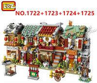 2266 PCS LOZ MINI Blocks Kids Building Toys DIY Puzzle Chinatown 1722-1725