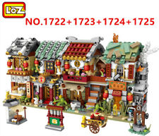2266 PCS LOZ MINI Blocks Kids Building Toys DIY Puzzle Chinatown 1722-1725