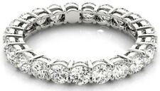 Eternity Band F-G Vs/Si1, 20 x 0.15 ct 3 carat Round Diamond Ring 18K White Gold