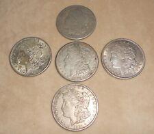 5 Morgan Silver Dollars 1921 Circulated