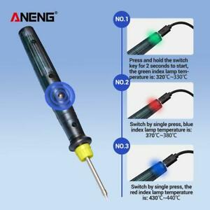 ANENG 8W LT002 Mini Portable Electric USB Soldering Iron Pen Welding Tools Set