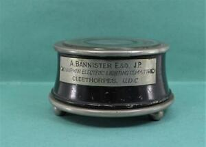 Victorian Paperweight Standard Telephone cables Ltd, A .Banister J.P Cleethorpes