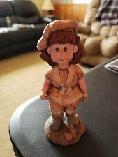 1989 Sarah's Attic Figure Girl On The Beach Seashells Cupcake