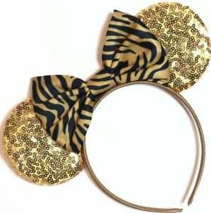 Tiger Stripe Animal Kingdom Ears, Animal Kingdom Mickey Ears, Minnie ears