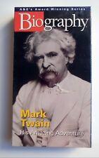 NWT A&E Biography - Mark Twain His Amazing Adventure VHS Sealed