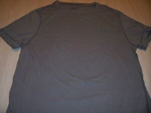 UNDER ARMOUR SHORT SLEEVE BROWN T-SHIRT MENS LARGE GOOD CONDITION