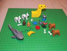 LEGO Animal LOT 20 total items---awsome, dog, cat, shark, snake, rooster, frog,