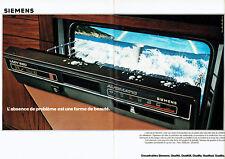 Publicité Advertising 018  1979  Siemens (2p) magnétoscope encastrable  Lady 680