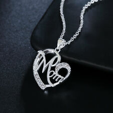 925 Silver wedding Necklace Jewelry Mother gift Fashion Cute stone women crystal