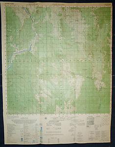 6736 iii - PLEI DJAMA - IA BA Valley - Rare 1969 US MIKE FORCE MAP - Vietnam War