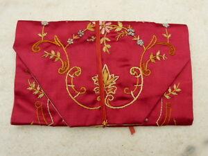 Antique Silk Sewing Needle Case  Circa - 1900