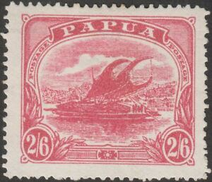 Papua 1911 KGV Lakatoi Canoe Mono 2sh6d wmk Crown to Right Mint SG91w cat £600