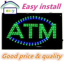 20PCS/LOT Free Shipping Animated LED Business ATM SIGN +On Off Switch Bright