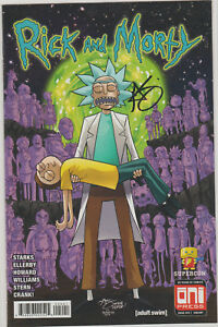 RICK & MORTY 44 SUPERCON CRISIS Variant SIGNED By Greg Kirkpatrick NM Blu Ray