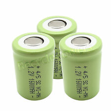 3 NiMH Ni-MH 4/5 SubC Sub C SC 1.2V 1600mAh Rechargeable Battery Cell Green