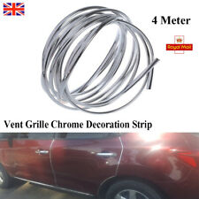 Chrome Moulding Trim Strip Car Door Edge Air Vents Protector Cover U Shaped 4M