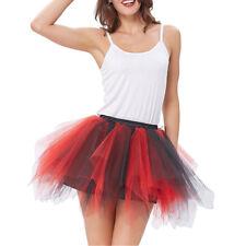 Women Tutu Dress Puffy Swan Underskirt Lady Over Knee Skirt Tulle Beach Dress