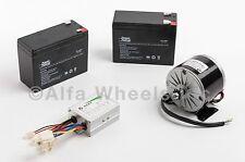 350 Watt 24 V electric motor kit w SLA Batteries & Speed Control f gokart razor