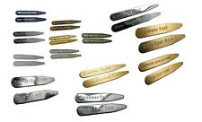 Premium Collar Stays to Engrave in Either Brass or Stainless Steel : Exotic Font