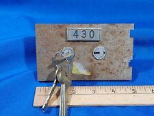 430 Lefebure 7700 Safe Deposit Box Lock Key Change With Keys 38 Nose Vtg