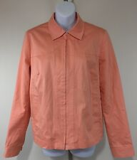 Rafael Womens Medium Size 10 Spring Dry Coat Zip Lightweight Light Orange