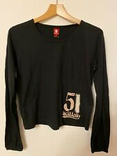 Killah BY MISS SIXTY 60 BLACK 10-12 L Sequin Embellished Long Sleeved Top