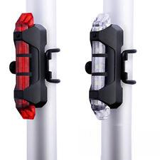 Luz 5 led trasera frente bicicleta bateria recargable usb flash impermeable