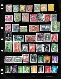 TURKEY: NICE  'VINTAGE' STAMP COLLECTION DISPLAYED ON 5 SHEETS SEE SCANS