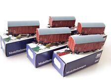 Piko H0 5 x gedeckte Güterwagen - unbespielt - ovp