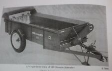 Ih armall McCormick No. 160 Power Drive Manure Spreader Set Up & Owner's Manual