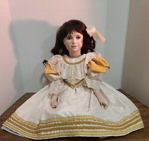 "Vintage Rare Queen Elizabeth I Porcelain Doll Artist Andrea Robbins Bisque 26"""