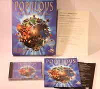 PC GAME -- POPULOUS THE BEGINNING -- PC CD-ROM -- WINDOWS 95/98 -- BIG BOX GAME