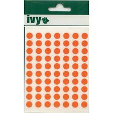8mm Orange Round Dot Sticky Labels Self Adhesive Circle Stickers (490 Stickers)