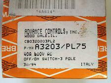 Bremas A3203 Pl75 Off-On Switch 40A 600Vac Cb0320003Pl2 Nib