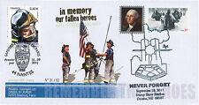 """WT11-9 FDC USA-FRANCE """"10 ans Attentats 11 Septembre / 1er Jour Pompiers"""" 2011"""