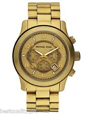 NEW MICHAEL KORS BRONZE S/STEEL OVERSIZE RUNWAY CHRONOGRAPH WATCH-MK8227