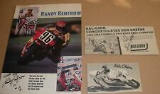 #29 RANDY RENFROW RICH OLIVER GREENE SIGNED AMA FORMULA 1 AUTOGRAPH AUTO PICS