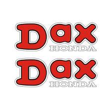2 Stickers plastifiés DAX Honda - 18cm x 6,5cm