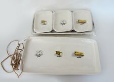 Rae Dunn by Magenta SET: Large+Medium Cheese Tray Platter+3 Appetizer Plates NEW