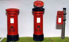 3 English Post Boxes Letter Boxes L2 UNPAINTED O Scale Langley Models Kit 1/43