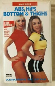 Aerobics Oz Style VHS Abs, Hips, Bottom & Thighs Fitness Video (with Booklet)