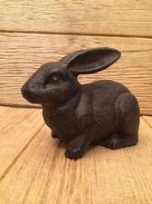 "Rabbit Cast Iron Door Stop 5"" tall 7 1/2"" long Home & Garden Decor 0170S--04669"