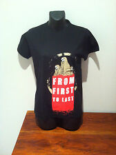 FROM FIRST TO LAST T-SHIRT Walking Dead NEW OFFICIAL Girls Fitted Med & Youth L