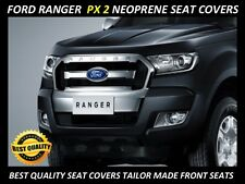 FORD RANGER PX 2  FRONT  CUSTOM MADE NEOPRENE SEAT COVERS ( WETSUIT MATERIAL )