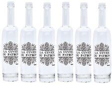 Set de 6 LA Cuvée Du Patron BOTELLAS VIDRIO puede ser utilizado para vino o ZUMO
