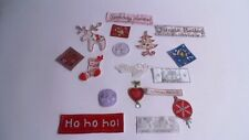 Pack of 10 Mixed Christmas Card Embroidered Motif Patch Stick Sew On Badge #2F25