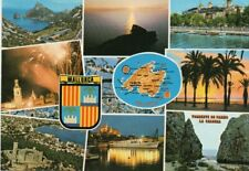 MULTIVIEW POSTCARD MALLORCA POSTED 1988