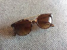 Topshop BRAND NEW Vintage Style Tortoise Shell Brown Sunglasses With Case UV Pro