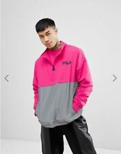 FILA LIMITED Pink overhead jacket with reflective panel - M - SUPER RARE