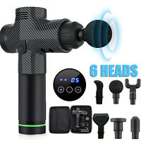 POWERFUL 6 Heads LCD Massage Gun Percussion Vibration Muscle Therapy Deep Tissue